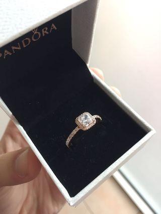 Pandora Square Sparkle Ring