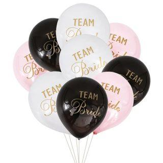 Team Bride Hen's Night Balloons