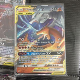 Charizard & Reshiram GX Tag Team Pokemon Card TCG