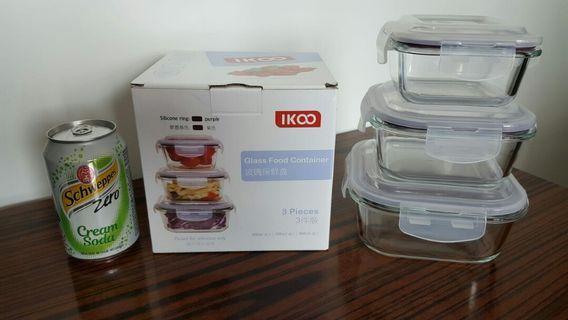 IKOO 牌玻璃保鮮盒