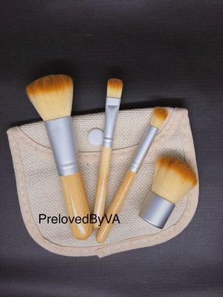 [TERMURAH] Kabuki Makeup Brush Travel Series + FREE Linen pouch