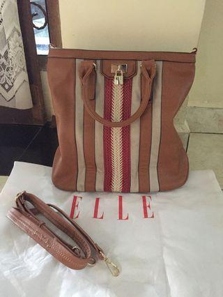 Genuine ELLE leather handbag