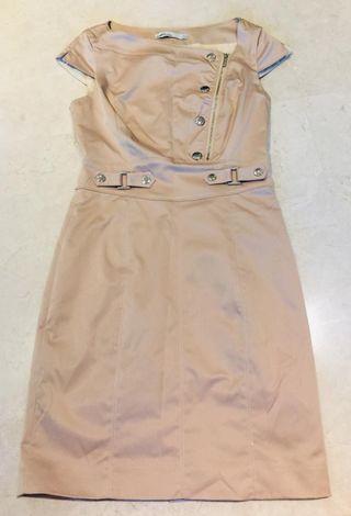 Karen Millen sleek beige satin dress