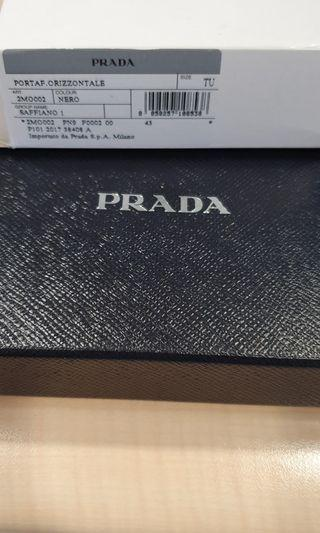 Prada mens wallet with coin pouch