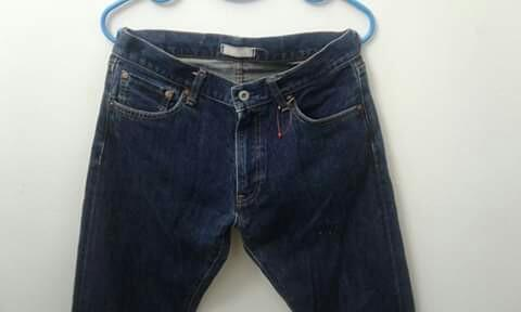 JEANS UNIQLO SELVEDGE/KEPALA KAIN ***JAPANESE FABRIC***