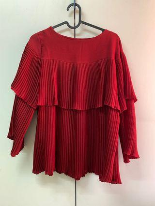 Blouse and skirt preloved
