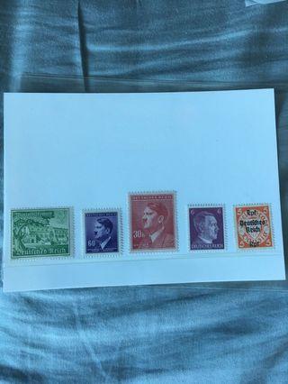 🚚 Old German Third Reich stamps