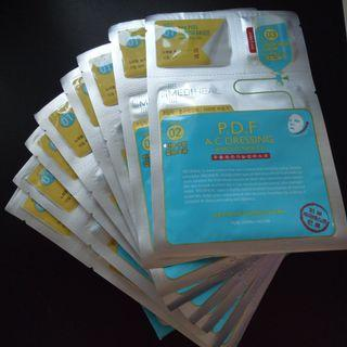 Mediheal 3 STEP P.D.F A.C DRESSING AMPOULE MASK EX (9 sheets in an open box)