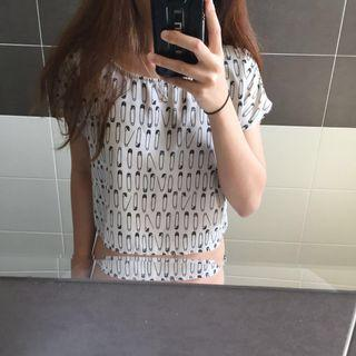 H&M Patterned Box Top