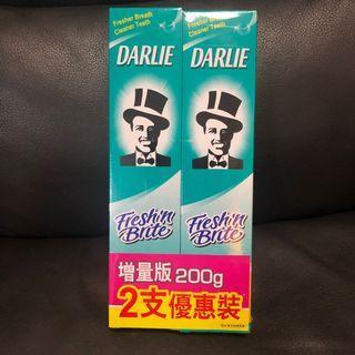 黑人Darlie潔齒亮白牙膏孖裝優惠裝