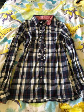 vintage tommy hilfiger checkered blouse