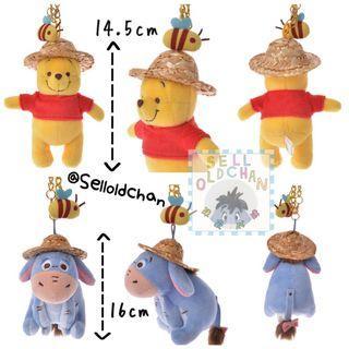 [#日本代購]草帽Eeyore/Pooh掛飾