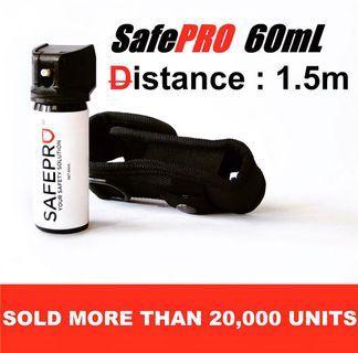 Pepper Spray 60ml (FREE Holster) SAFEPRO White