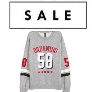 H&M Grey Oversized Boyfriend Sweater Pullover
