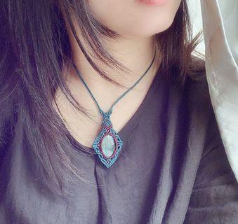 Handmade藍光拉長石頸鍊