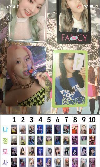 🚚 Twice Photocards fancy