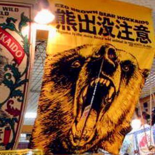 熊出沒注意 門簾 門布 中開兩邊 120x85cm 整張計 購自北海道 Hokkaido 無印 ikea 掛簾 掛布
