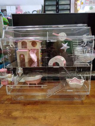 🚚 Acrylic Hamster Cage(Zoog)