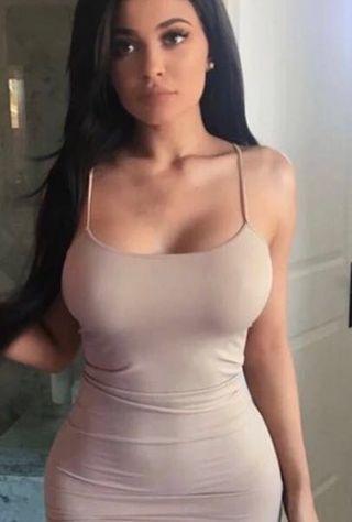 貼身彈力包臀裙(灰粉色)