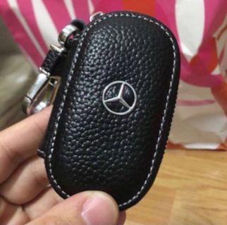 🚚 真皮賓士汽車小零錢包鑰匙包