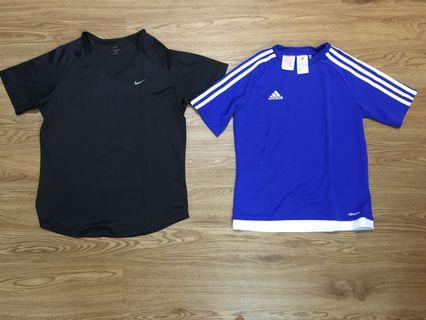 Nike and Adidas Sports Shirts - $10 each