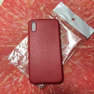 Leather-like soft case (red-iphone x)