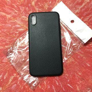 Lather-like soft case (black, iphone x)