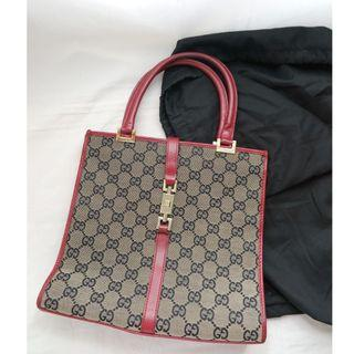 GUCCI GG monogram small hand carry bag 手袋 (wallet 銀包 clutch coins card holder )