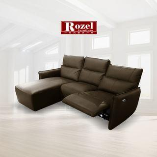Leather Sofa with Motor Recliner