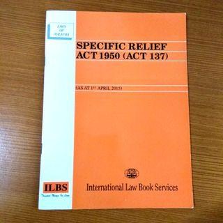 Specific Relief Act 1950, law statute