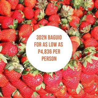 3D2N Baguio City Tour Package for as low as P4,836 per person