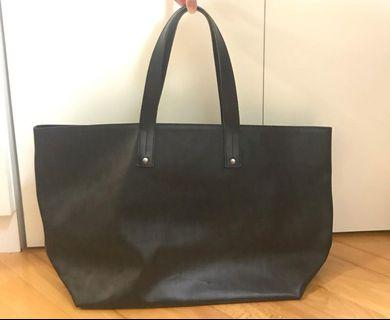 Dior Black Logo Jacquard Waxed Canvas Tote Bag