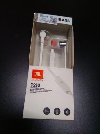 (NEW) Original JBL T210 Earphones (White)