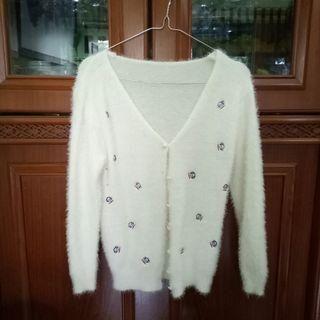 Cardigan Sweater Rajut Bulu
