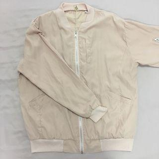 Lightweight Pink Bomber Jacket