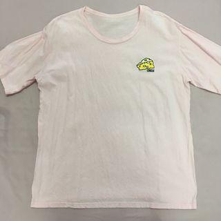 Cute Logo Pink Shirt Short Sleeve