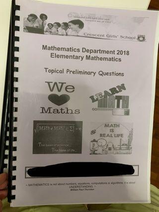 Prelim maths paper , e maths , 2018