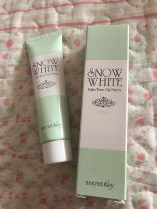 secret key snow white color tone-up cream (mint)