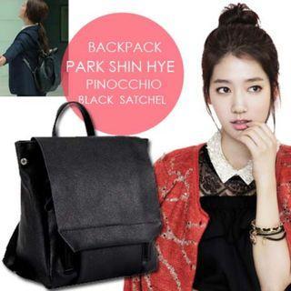 🚚 BACKPACK PARK SHIN HYE PINOCCHIO BLACK SATCHEL