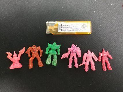 中古 絕版 Gundam 高達 機動戰士 單色膠 單色消 扭旦 Made in Japan 日本製 格魯古古 勇士 Gelgoog 自護 GM 吉姆 太空坦克