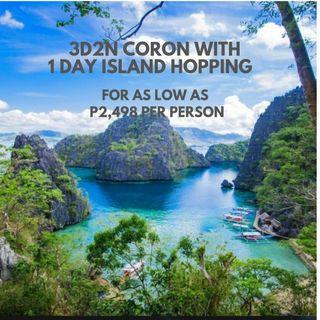 3D2N Coron Island Adventure Tour package for as low as P2,498 per person