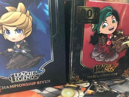 英雄聯盟 League of Legends 正版Jinx & Riven玩具 Riot購入