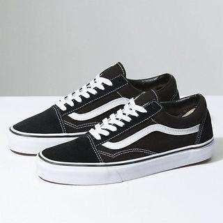 Authentic Vans Old Skool Black White