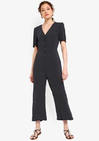 BNWT V Neck Puff Sleeves Jumpsuit