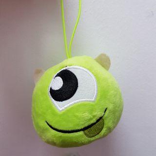 [New Instocks] Monsters Inc Mike Wazowski Mini Soft Toy Plush Toy Stuffed Toy Bag Charm- Original