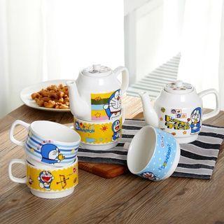 🚚 [PO] Doraemon Tea pot Set