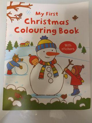 [全新包郵] Christmas coloring book