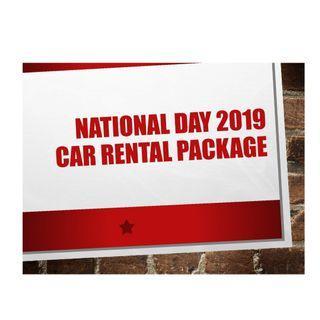 National Day Car Rental 2019, Hari Raya Haji Car Rental 2019