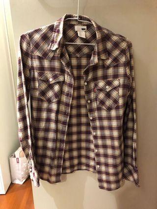 Levi's 窄版 格紋外套