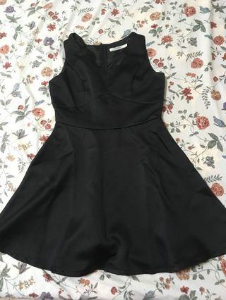黑色A字無袖小禮服